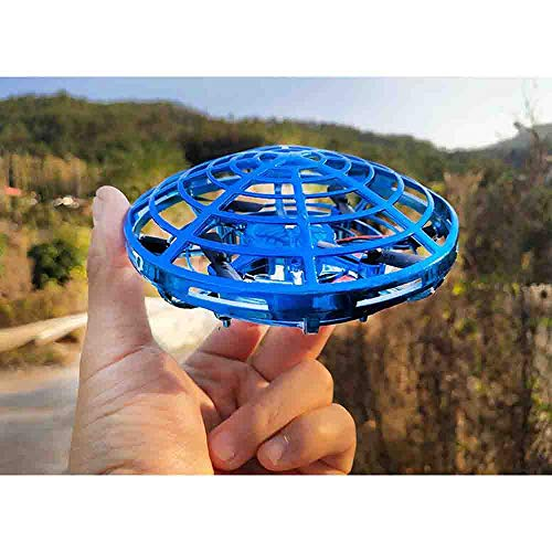 NiGHT LiONS TECH Novelty UFO Flying Toy,Hand-Controlled Suspension Quadcopter Toy, Infrared Induction Interactive Drone Indoor Flyer Toys with 360° Rotating and LED Lights for Adults,Kids,Teenagers by NiGHT LiONS TECH (Image #4)