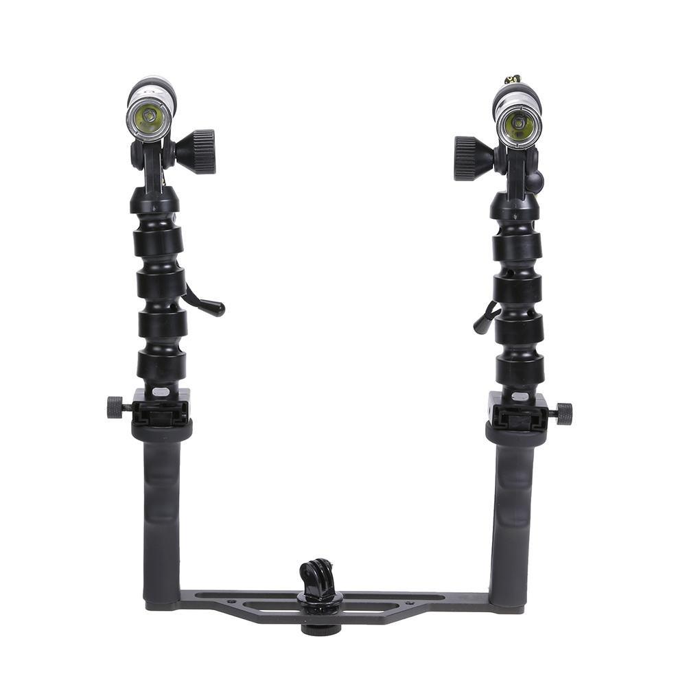 LED Taschenlampe, Handheld Dual Wasserdichte Tauchkamera Versorgung Taschenlampe Kamera Stabilisator-Starnearby