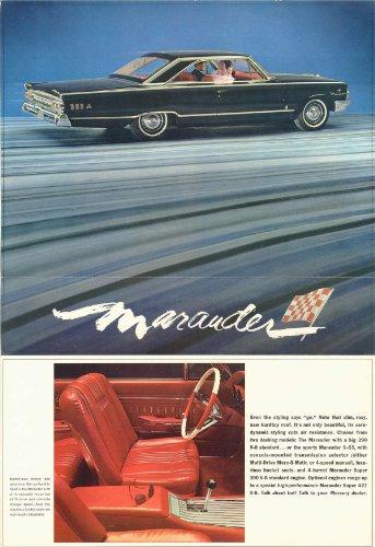 1963 MERCURY MARAUDER VINTAGE COLOR SALES BROCHURE FOLDER - M63-120 - EXCELLENT ORIGINAL - USA !!