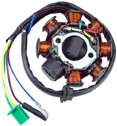 Amazon.com: New AC Magneto Stator 8-coil 8 Pole 5-wire Gy6 125cc 150cc ATV  Scooter: Sports & Outdoors | Gy6 8 Coil Stator Wiring Diagram |  | Amazon.com