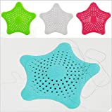 Drhob 1pcs New Cute Home Living Floor Drain Hair Stopper Bath Catcher Sink Strainer Sewer Filter Shower Cover(Random Color)
