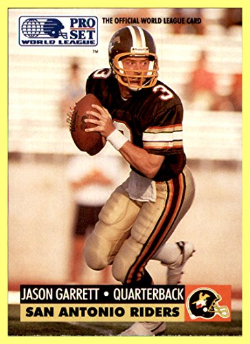 1991 Pro Set WLAF World League Inserts #31 Jason Garrett QB SAN ANTONIO TEXAS RIDERS USA DALLAS COWBOYS Head Coach QUARTERBACK