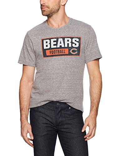 NFL Chicago Bears Men's OTS Triblend Distressed Tee, Vintage Grey, Large