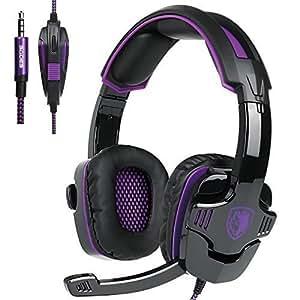 Sa930 3.5mm Stereo Gaming Headset con microfono sobre la oreja los auriculares para PC /