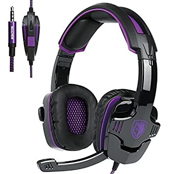 Sa930 3.5mm Stereo Gaming Headset con microfono sobre la oreja los ...