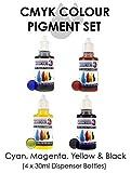 Monocure 3D CMYK Pigment Set for 3D Printer Resins