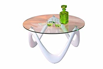 Links Valentine Fibre Glass Coffee Table Modern white: Amazon.co.uk ...