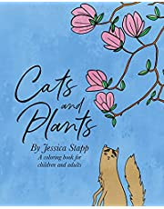 Cats and Plants: Coloring Book for Adults and Children