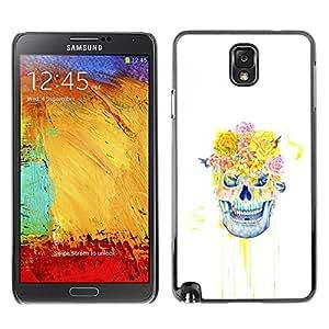 SKCASE Center / Funda Carcasa - Cráneo floral Rose - Samsung Note 3 N9000