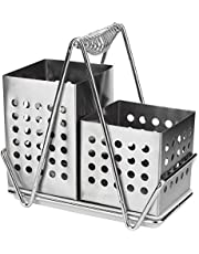 Yissone Chopsticks Holder, Multi-Functional Stainless Steel Chopsticks Cage Chopsticks Storage Shelf Holder Rack with Handle for Home Kitchen