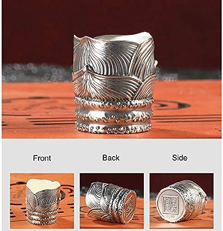 XXSC-ZC Copa de Vino de Plata Pura, Licor Sherry Vodka Rum Whisky Glass, Plata esterlina 999 Copa de Vino pequeña, un Vaso SIP