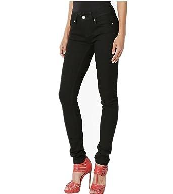 48868f075c Dustin Clothes Versatile Basic Black Dyed Stretch Denim 5 Pocket Low ...