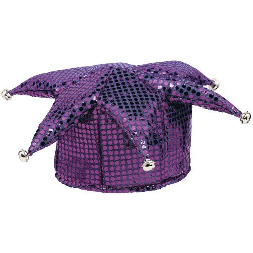 Purple Sequined Jester Hats