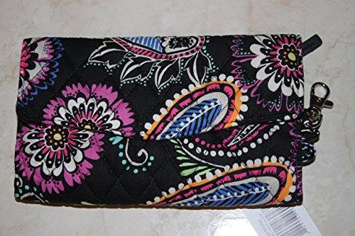 Lining With Black Bandana Solid Vera Bradley Strap Wallet Swirl nwPqF8va1