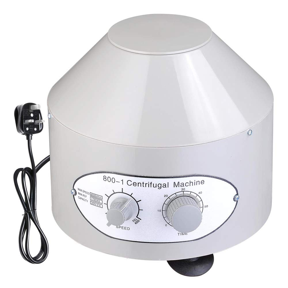 ReaseJoy 4000rpm 220V Electric Centrifuge Machine Low Speed Lab Equipment Practice for Biology Medical Chemistry 20mlx6 Generic