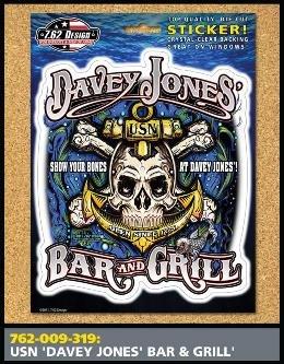 USN Davey Jones Bar and Grill Sticker - 7.62 (Davey Jones Bar)