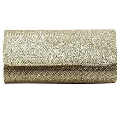 Gold Handbags Glitter Purse Womens Bag Ladies Wocharm Black Party Bridal Clutch Wallet Wedding Bag Clutch Gold Silver Evening qCpfpwtxRT