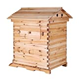 Popsport Beehive Frames 20x16x10 Inch Beehive Wooden House Wood Honey Bee Hive House for Beekeeping Without Auto Flow Honey