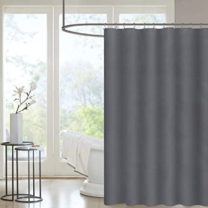 PICURA Fabric Shower Curtain Liner Cloth Mildew Resistant Washable Polyster Waterproof