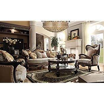 Amazon Bulgaria Black Wood Trim Sofa  Loveseat  Chair Set