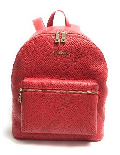 Moschino - Bolso mochila para mujer rojo rojo