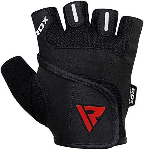 RDX Amara Leather Weight Lifting Gym Gloves Cross Training B