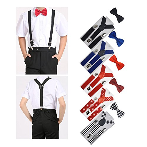 Cinny Suspender Set with Bow Tie for Kids