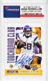 Adrian Peterson Minnesota Vikings Autographed 2013 R&S TD Club #8 Card with ROY 2007 Inscription - Memories - Memories - Fanatics Authentic Certified
