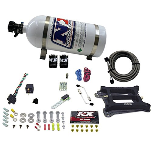 - Nitrous Express 30045-10 4150 50-300 HP 4-BBL Alcohol Conventional Stage 6 Plate System with 10 lbs. Bottle