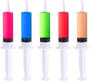 BESTONZON 25 Pack Jello Shot Syringes - 2 OZ Food Grade Party Syringe with 30 Caps - Durable Reusable for Birthday and Other Parties