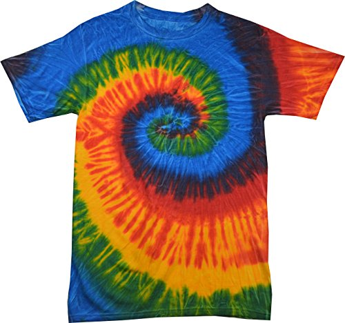 - Colortone Tie Dye T-Shirt 4X Rasta Blue
