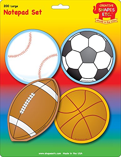 Creative Shapes Etc. Sports Set Notepad