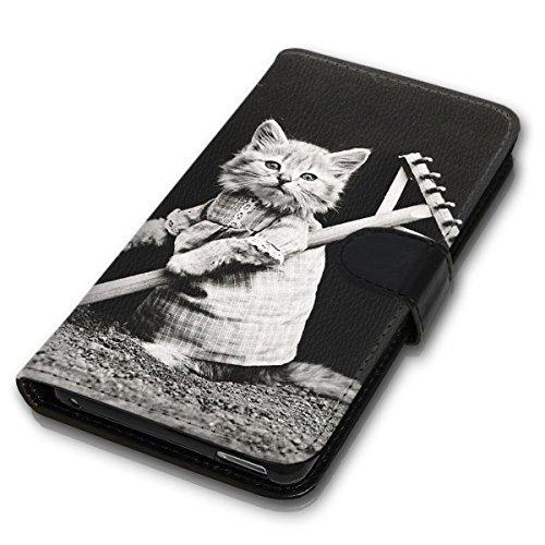 Wallet Book Style Flip Handy Tasche Case Schutz Hülle Schale Motiv Etui für Apple iPhone 5 / 5S - Design Flip MV276