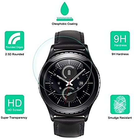 CEDO Round edge 2.5 D Tempered glass for Samsung Gear S2 Classic Smartwatch Screen guards