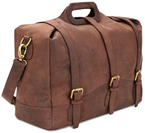 Bolso búfalo auténtico Mano de en LEABAGS Bakersfield NuezMoscada Vintage Cuero de el Nuezmoscada Estilo HnqwB6x0a