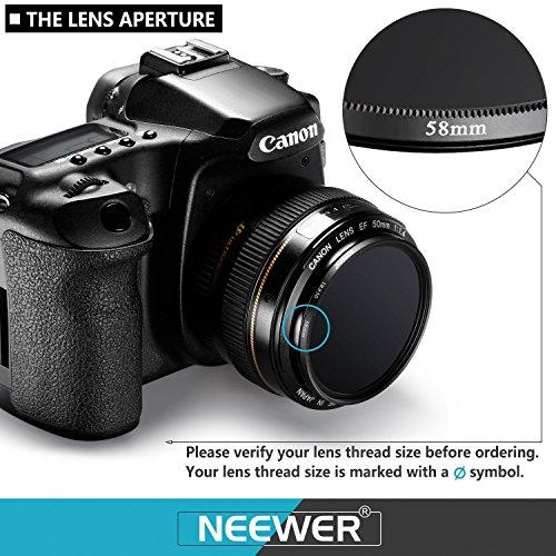 Neewer 4 Pieces 58mm Infrared X Ray IR Filter Set IR720