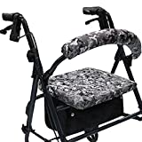Crutcheze Digital Snow Camo Rollator Walker Seat and Backrest Covers Designer Fashion Accessories Made in USA