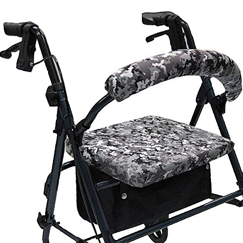 Crutcheze Digital Snow Camo Rollator Walker Seat and Back...
