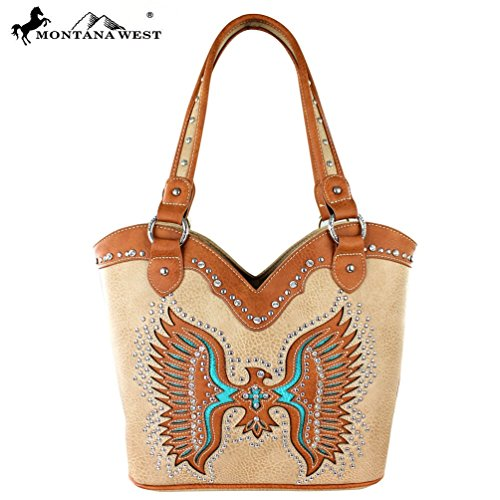 Montana West Bling Bling Collection Native American Thunderbird Tote Bag - Tote Of Bird Paradise