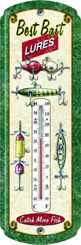 Rivers Edge Best Bait Lures Nostalgic Tin Thermometer