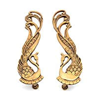Handecor Peacock Design Brass Door Handle Pair (2 pcs)