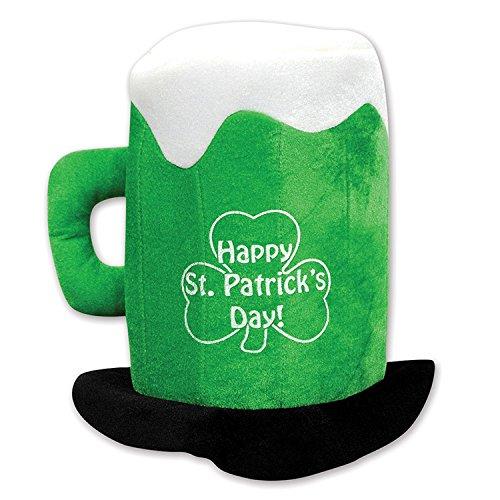 Beistle 30712 Plush St.Patrick's Day Beer Mug Hat