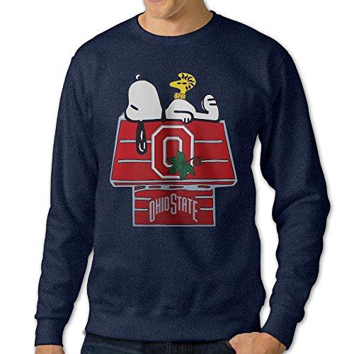 [U9 Men's Ohio State University OSU Crewneck Sweatshirt] (Courtney Love Costume)