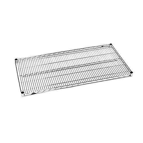 "Metro 1424BR Super Erecta Brite 14""W x 24""L Wire Shelf"
