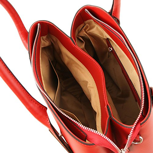 Tuscany Leather Flora Borsa a mano in pelle - TL141694 (Celeste) Rosso Lipstick