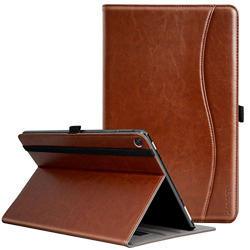 Ztotop Folio Case for All-New Tablet Computer 10 (2017 Release, 7th Generation) - Smart Cover Slim Folding Stand Case with Auto Wake / Sleep,Brown