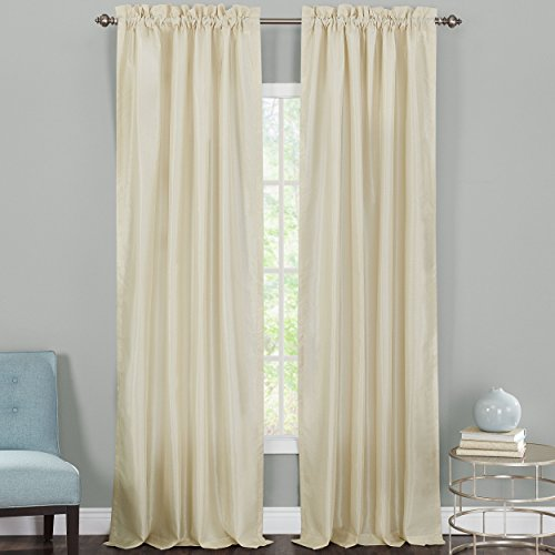 Heritage Landing Faux Silk Lined Window Panel Pair, 108