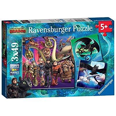 Ravensburger 08064 Dragons Puzzle 3 X 49 Pezzi