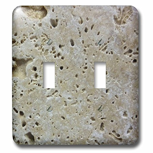 Beige Switchplate - 3dRose  lsp_53231_2 Beige Stone Double Toggle Switch