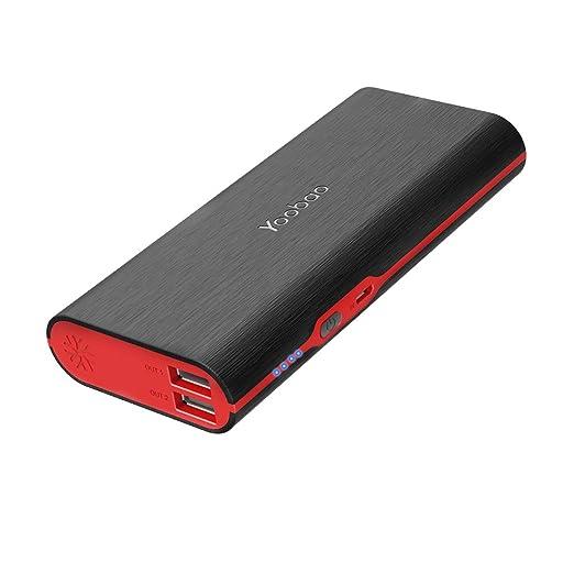 【タイムセール】Yoobao モバイルバッテリー 10000mAh USB2出力ポート iPhone/iPad / Android全機種対応 (ブラック)